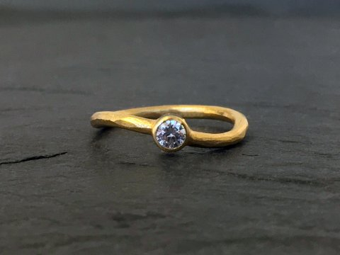 Twist diamant ring
